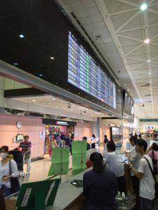 桃園国際空港到着出口