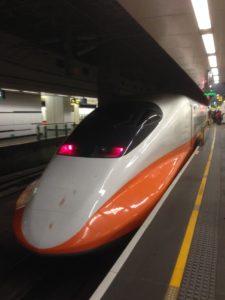 台湾新幹線を正面から