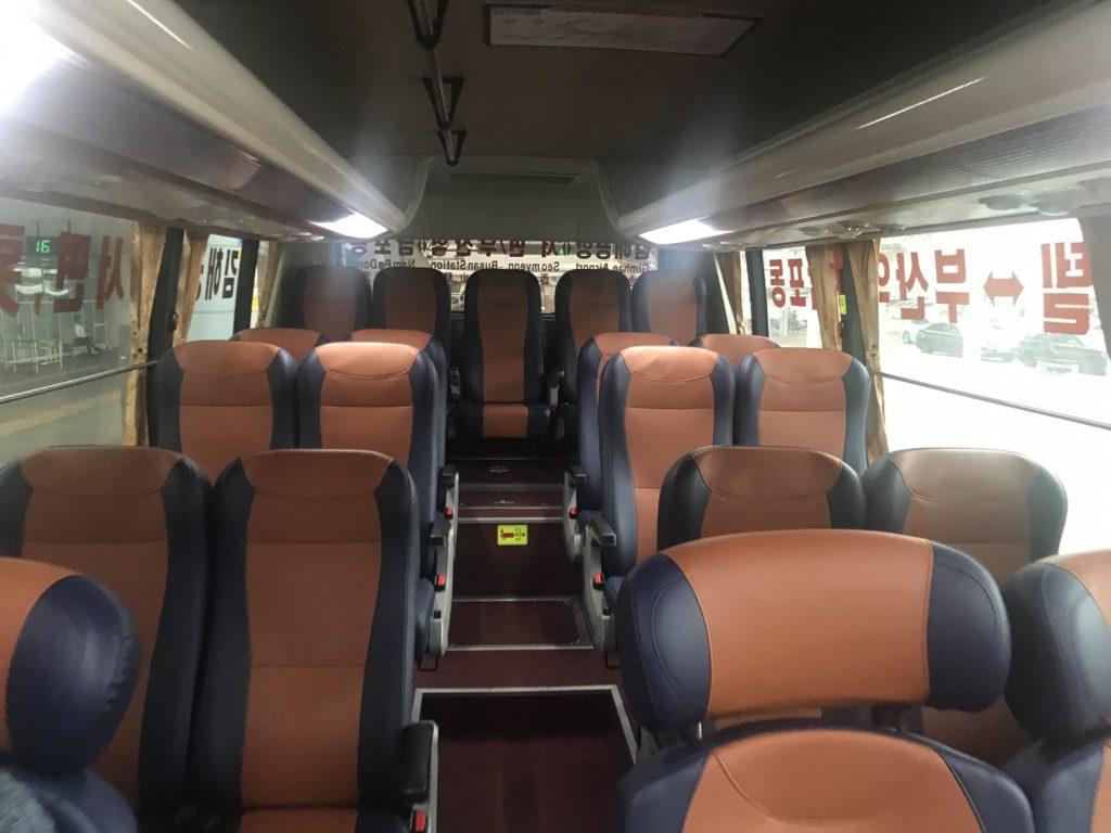 釜山バスの中