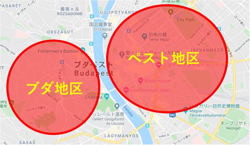 ブダペスト地図